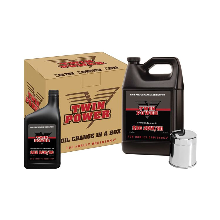 Twin Power Oil Change-In-A-Box For Harley Sportster 1988-2018