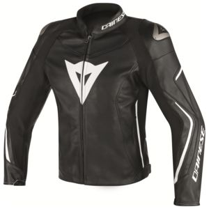 Dainese Assen Leather Jacket Black/Black/White / 48 [Blemished - Very Good]