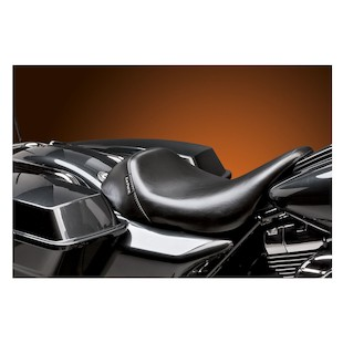 Le Pera Bare Bones Solo Seat For Harley Touring 2008-2017 Black / Smooth Up-Front Seat [Previously Installed]