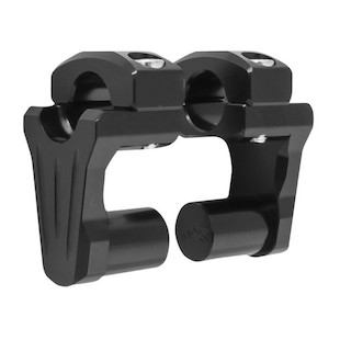 "Rox Pivoting Risers For 1"" Handlebars 2"" Tall / Black Anodized [Previously Installed]"