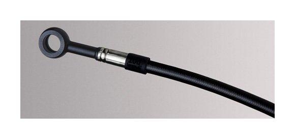 Pro Braking PBR2136-SIL-BLA Rear Braided Brake Line Silver Hose /& Stainless Black Banjos