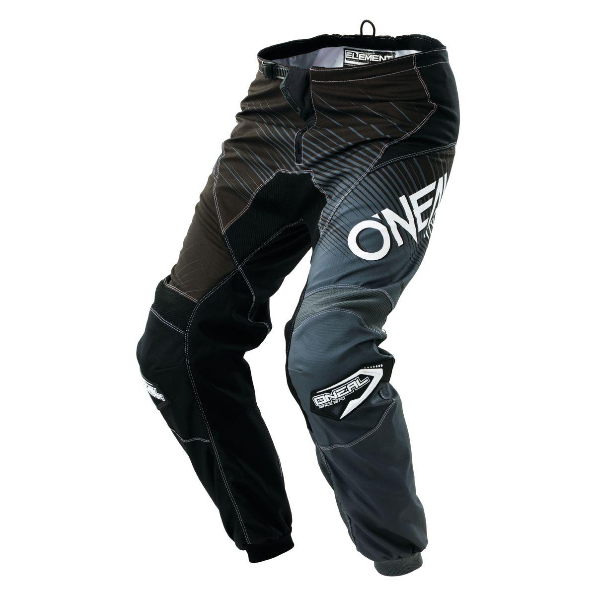 ONeal Element Youth Boys Pants Gray//Orange//Blue, yth 28