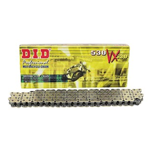 DID 530VX X-Ring Chain 120 Links / Gold [Open Box]