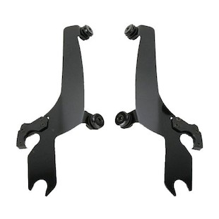 Memphis Shades Fats / Slim To Sportshield Plates-Only Mount Kit For Harley V-Rod 2002-2011 Black [Open Box]