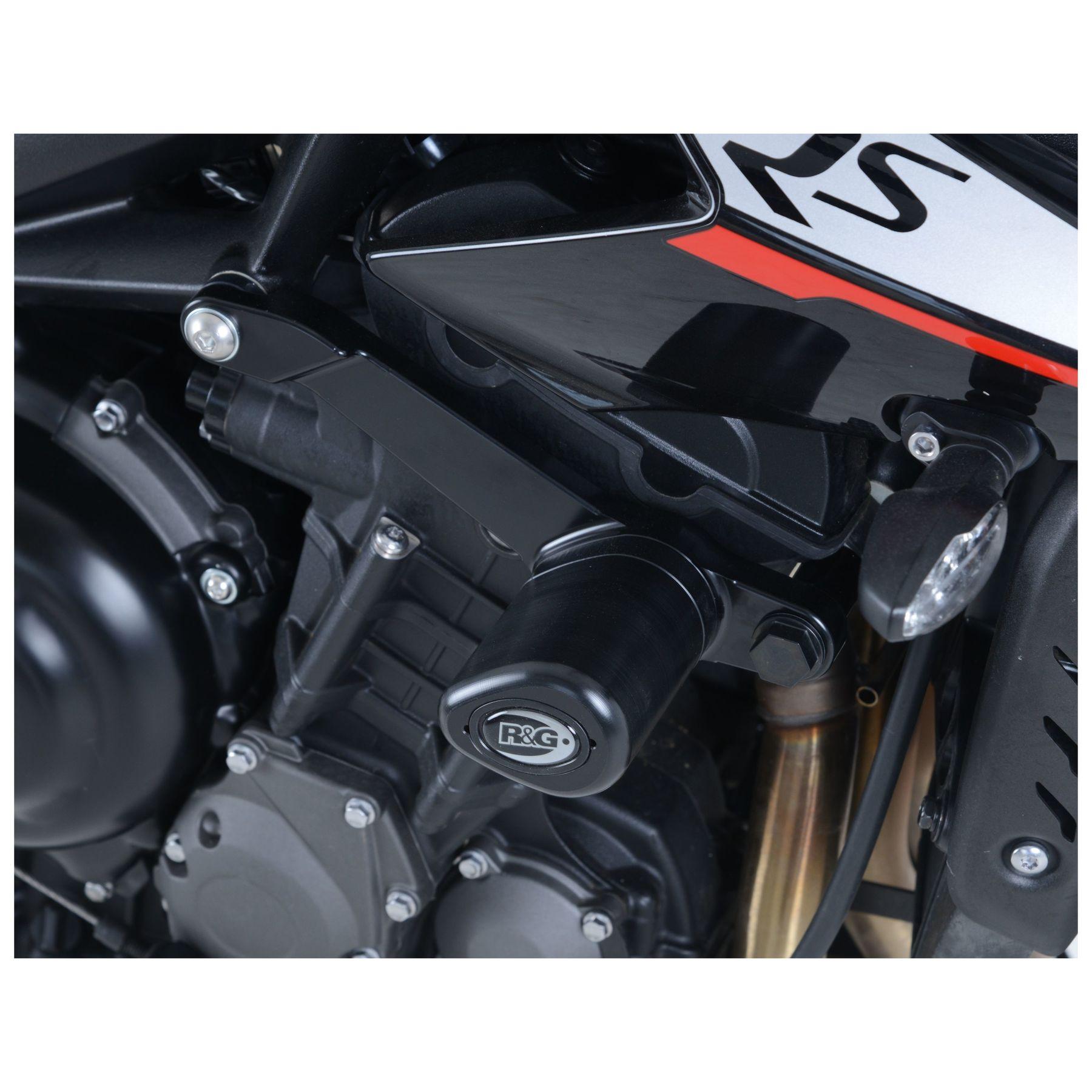 Street Triple S 765 18 /& Street Triple RS 765 18 R/&G Aero Style Frame Sliders for Triumph Street Triple R 765 18