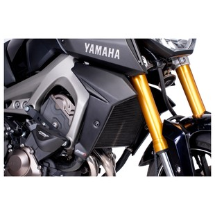 Puig Radiator Side Panels Yamaha FZ-09 2014-2016 Matte Black [Previously Installed]