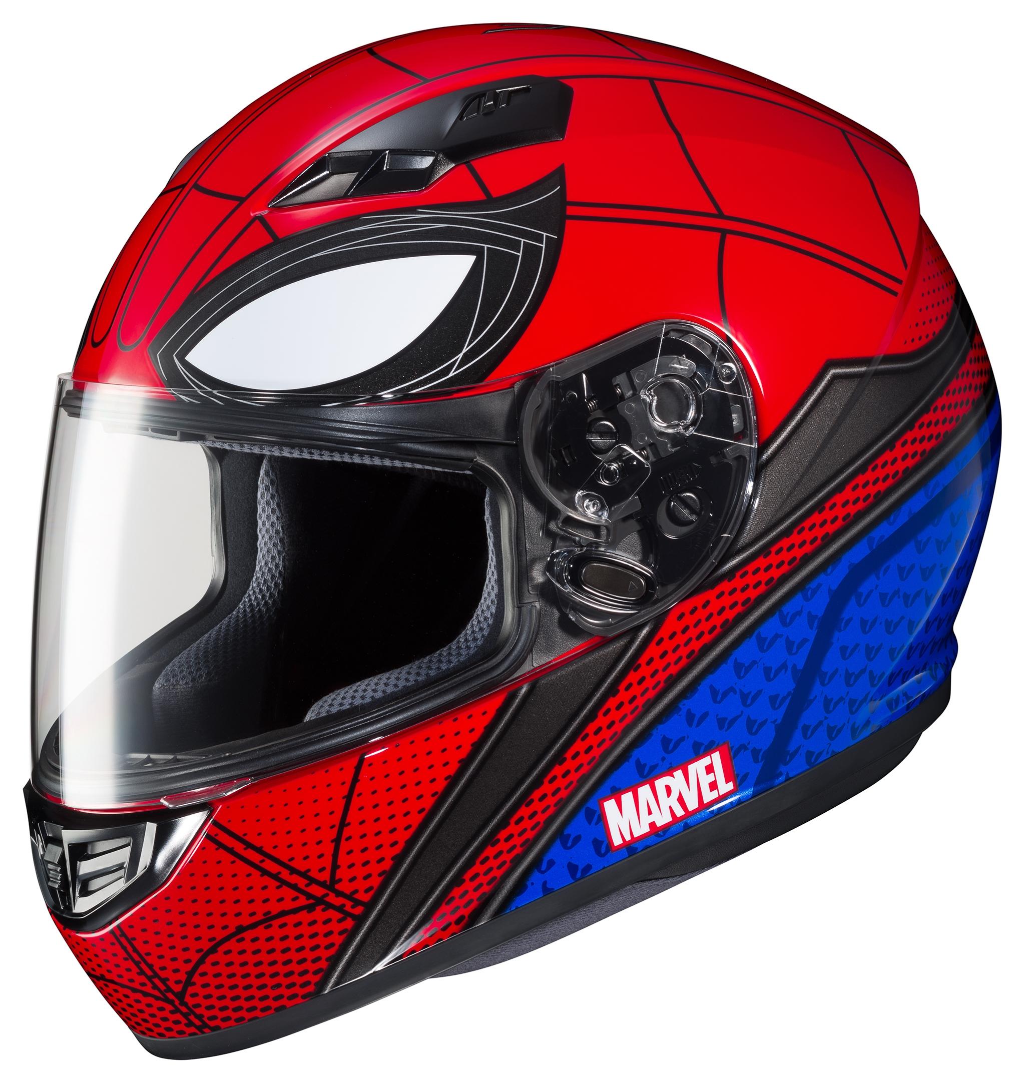 Hjc cs r3 spiderman helmet 10 off revzilla - Spider man moto ...