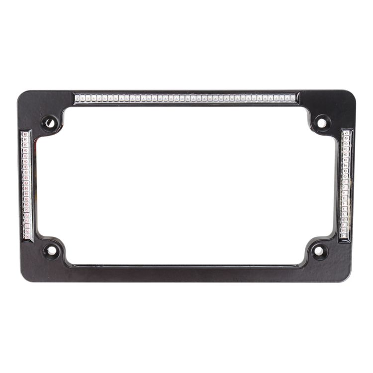 Custom Dynamics LED All-In-One Flat License Plate Frame - RevZilla