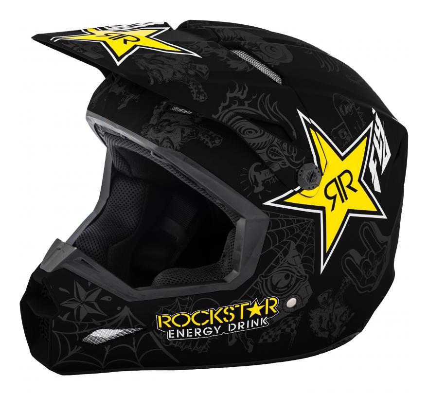 Fly Racing Dirt Elite Rockstar Helmet Md 20 25 99