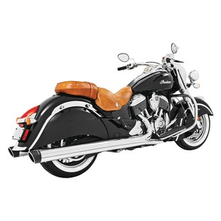 """Freedom Performance 4"""" Slip-On Mufflers For Indian Chief Classic And Vintage 2014-2017 4"""" Liberty / Chrome w/ Blac... [Blemished - Very Good]"""