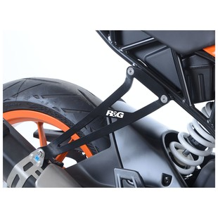 R&G Racing Exhaust Hanger & Left Hand Footrest Blanking Plate KTM RC390 2017