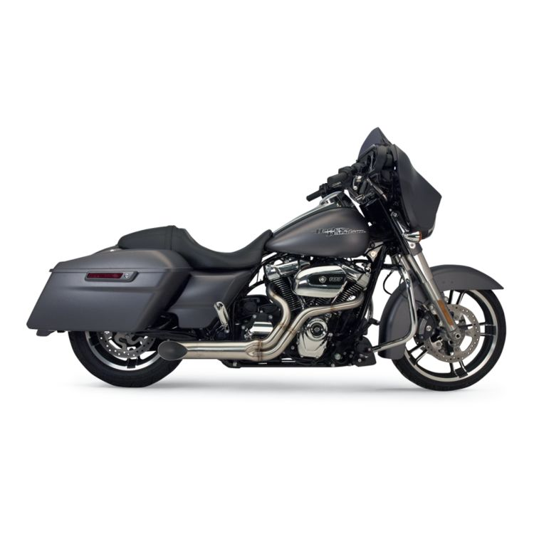 Supertrapp Exhaust Bootlegger Stainless 2-Into-1 For Harley Touring