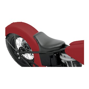 Le Pera Bare Bones Solo Seat For Harley Aftermarket Rigid Frames / Choppers Black / Smooth Solo Seat w/ Biker Gel [Previously Installed]