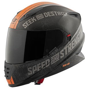 Speed and Strength SS1600 Cruise Missile Helmet Black/Orange / MD [Open Box]
