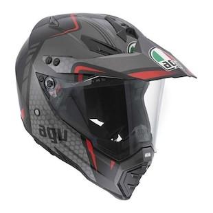 AGV AX-8 DS EVO GT Helmet Black/Silver/Red / 3XL [Open Box]