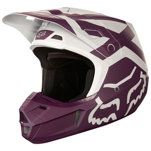 Fox Racing V2 Preme Helmet (Color: Purple / Size: XL)