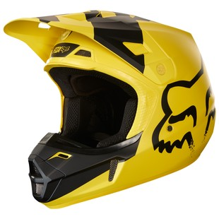 Fox Racing V2 Mastar Helmet (Color: Yellow/Black / Size: XL)