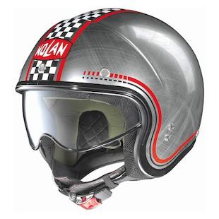 Nolan N21 Vintage Lario Scratched Helmet Silver / MD [Open Box]