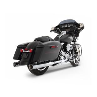 """Rinehart Slimline Duals Exhaust With 4"""" Mufflers For Harley Touring 2017-2018"""