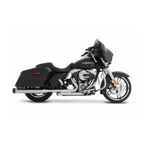 """Rinehart Slimline Duals Exhaust With 4"""" Mufflers For Harley Touring"""