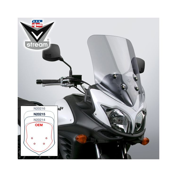 National Cycle VStream Sport Touring Windscreen Suzuki V-Strom 650 2012-2016 Light Tint [Previously Installed]