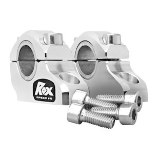"""Rox 1-1/4"""" Block Offset Risers For 1-1/8"""" Handlebars Aluminum [Previously Installed]"""