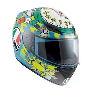 AGV K3 Wake Up Helmet Blue/Yellow/Green / SM [Demo - Good]
