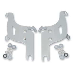 Memphis Shades Bullet Fairing Trigger-Lock Mount Kit For Harley Road King 1994-2017 Polished [Previously Installed]