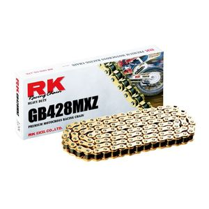 RK GB428 MXZ Chain 134 Links / Gold [Blemished - Very Good]