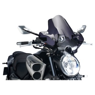Puig Naked New Generation Windscreen Yamaha Vmax 1700 2009-2015 Dark Smoke [Previously Installed]