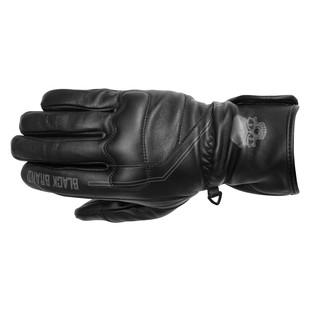Black Brand Pinstripe Gauntlet Gloves