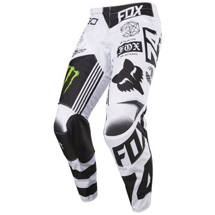 Fox Racing 180 Monster / Pro Circuit SE Pants White/Black/Green / 32 [Demo - Good]