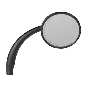 Russ Wernimont Round Convex Mirror For Harley Right Side / Black [Previously Installed]