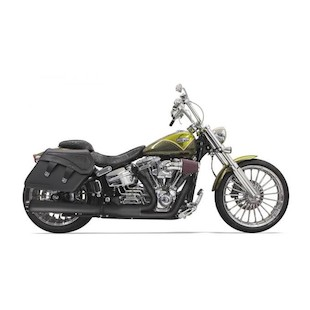 Bassani Road Rage 2-Into-1 Exhaust For Harley Breakout / Rocker 2008-2017 Long Megaphone With Heat Shields / Black [Blemished - Very Good]