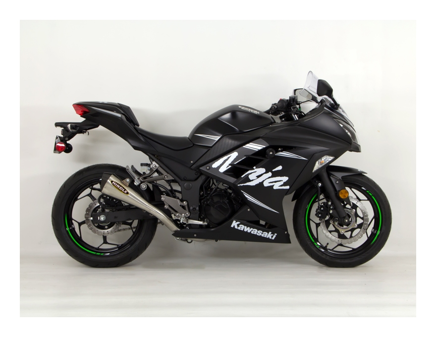 Motorcycle Riding Jackets >> Hindle EVO Megaphone Exhaust System Kawasaki Ninja 300 2013-2017 - RevZilla