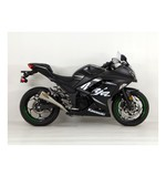 Hindle EVO Megaphone Exhaust System Kawasaki Ninja 300 2013-2017