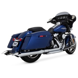 "Vance & Hines 4"" Turn-Down Slip-On Mufflers For Harley Touring"
