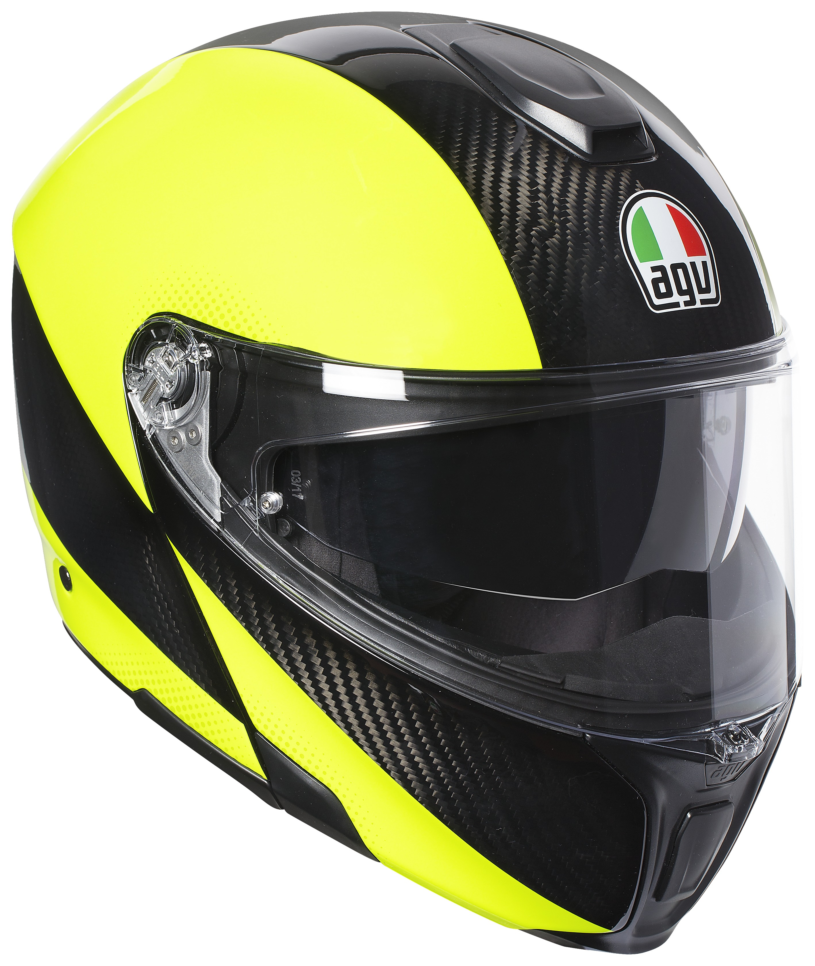 Helmet agv compact course black yellow fluo high visibility