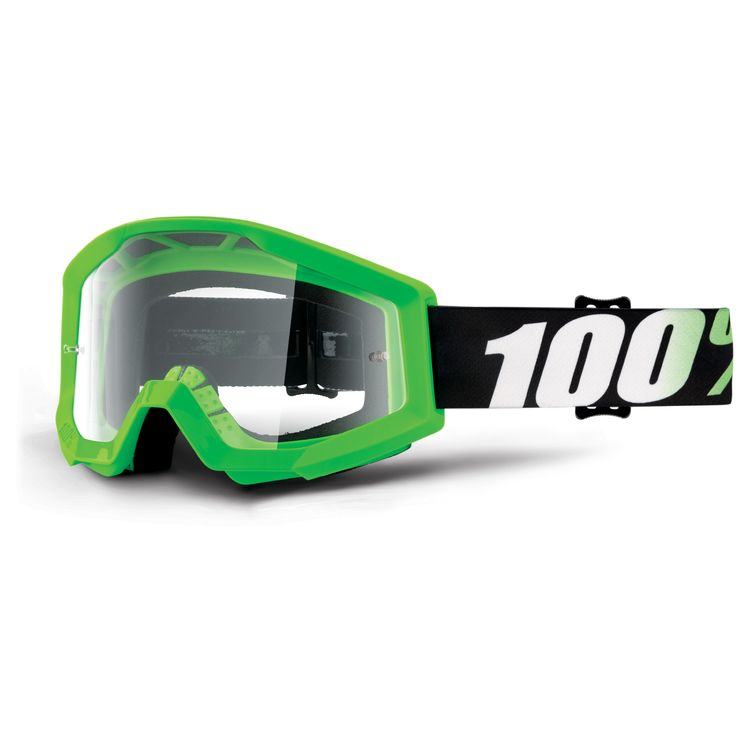 100/% Strata MX Motocross Goggles Nation w//Clear Lens