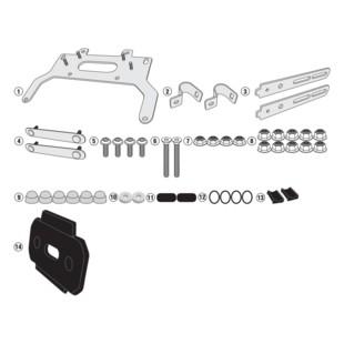 Givi TL1146KIT Tool Box Fit Kit Honda NC700X 2016-2017