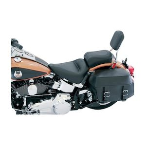 Mustang Solo Passenger Seat For Harley Softail 2000-2017 Black / Standard Vintage Smooth [Previously Installed]