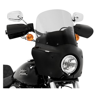 """Memphis Shades Road Warrior Windshield For Harley Dyna 2006-2017 Smoke / 13"""" Tall [Previously Installed]"""