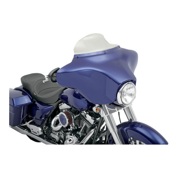 "Klock Werks Flare Windshield For Harley Touring 1996-2013 Dark Smoke / 11 1/2"" Tall [Previously Installed]"