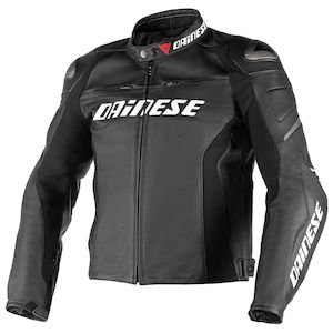 Dainese Racing D1 Perforated Leather Jacket Black/Black/Black / 60 [Blemished - Very Good]