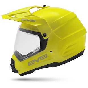 EVS T5 Venture Dual Sport Helmet Hi-Viz Yellow / LG [Open Box]