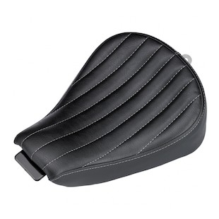 Biltwell Sporty 8 Seat For Harley Sportster 2010-2018 Black / Vertical Tuck n Roll [Previously Installed]