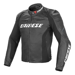 Dainese Racing D1 Leather Jacket Black/Black/Black / 56 (Tall) [Blemished - Very Good]