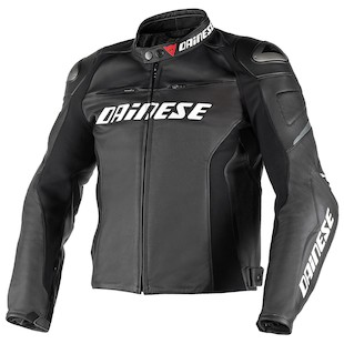 Dainese Racing D1 Perforated Leather Jacket Black/Black/Black / 54 [Blemished - Very Good]