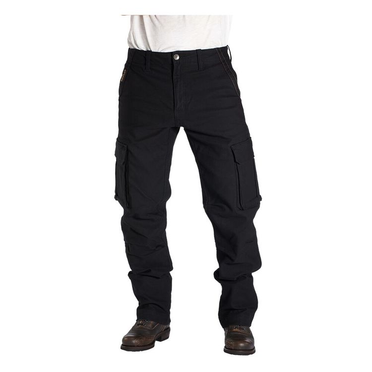 These cargo detail skinny pants include a high rise fit, the traditional five pocket and belt loop design, a front button and zipper closure, cargo style pockets down the sides of each pant leg with snap closures, panel detailing, and a skinny leg fit.