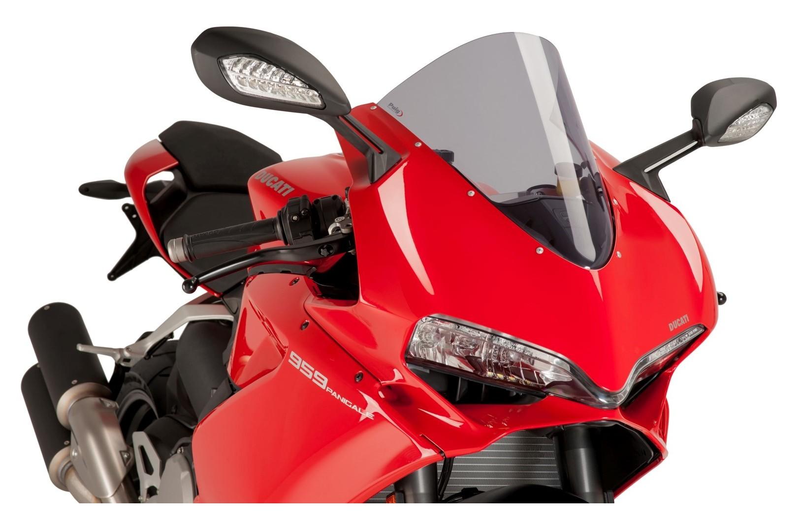 Puig Dark Smoke Grey Racing Screen Windshield Ducati Panigale 1100 V4 S ABS 2018